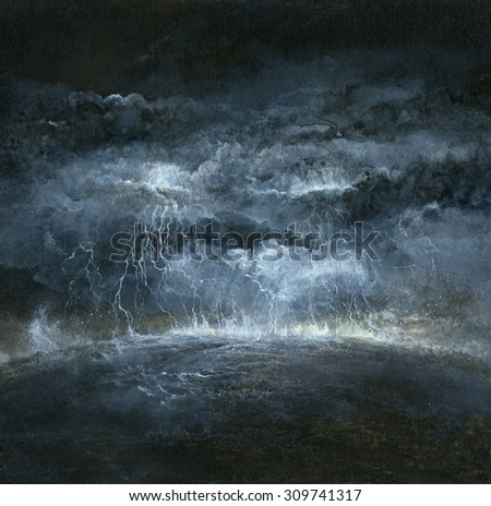Stormy place - stock photo