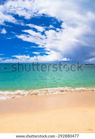 Stormy Scene Remote Resort  - stock photo