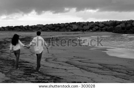 Stormy sea nights - stock photo