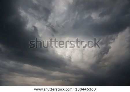 stormy sky , Natural background - stock photo