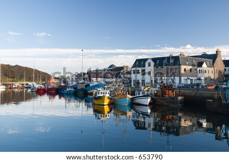 Stornoway Harbour, Isle of Lewis, Scotland. - stock photo