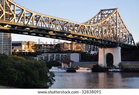 Story Bridge over the Brisbane River - stock photo