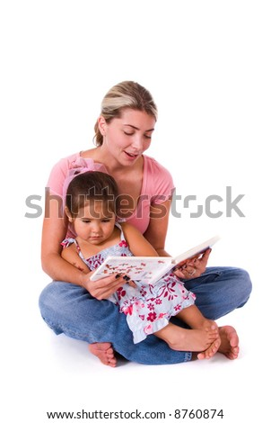 Story time. - stock photo