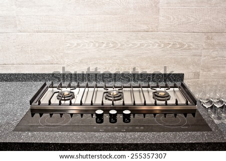 stove burner front view - stock photo