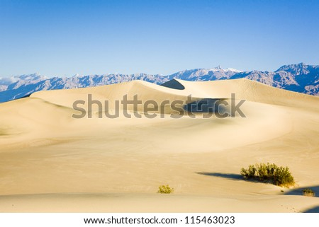 Stovepipe Wells sand dunes, Death Valley National Park, California, USA - stock photo