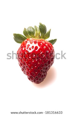 str?wberry isolated on white background - stock photo