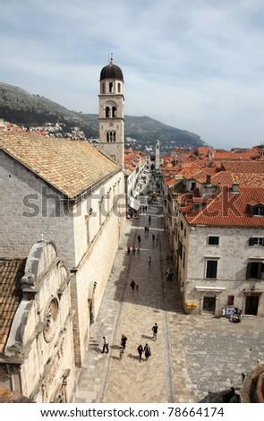 Stradun street, Dubrovnik, Croatia - stock photo