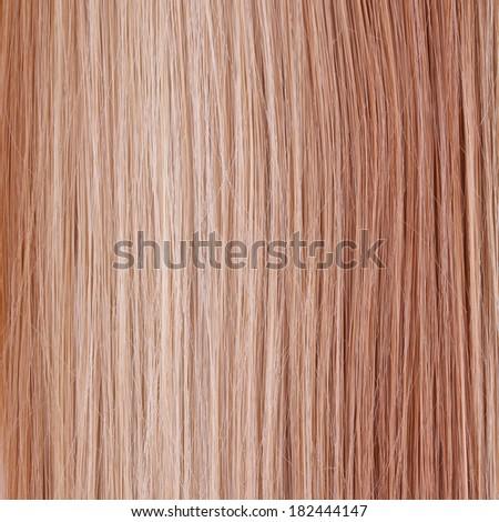 Straight Hair. Hair Care. Hair Salon. Gradient Background - stock photo