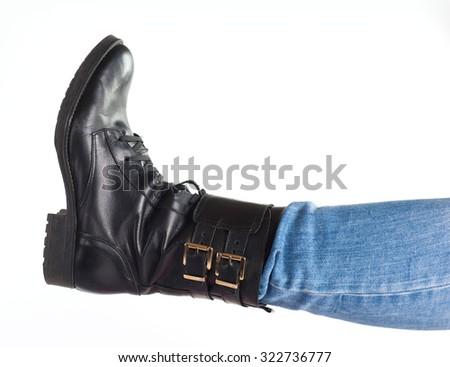 straight leg - stock photo