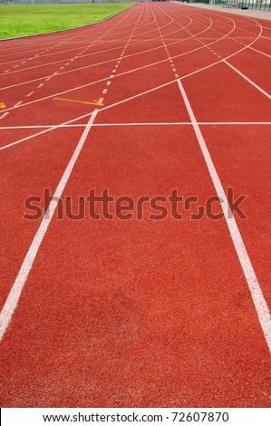 Straight Running Track - stock photo