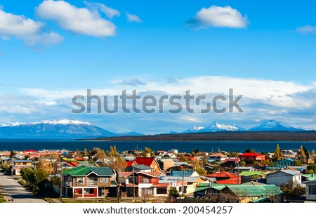 Strait Of Magellan, Puerto Natales, Patagonia, Chile - stock photo