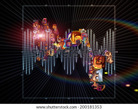 Strange Geometry series. Creative arrangement of line drawing, math and geometry related elements as a concept metaphor on subject of mathematics, science, education and  technology - stock photo