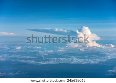 Strange Shape Cloud - stock photo