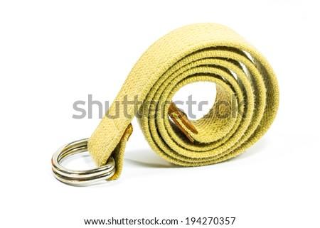 strap belt on white background - stock photo