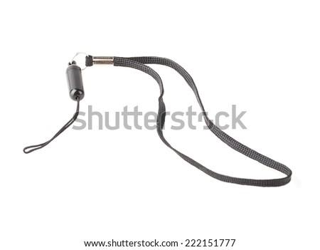 Strap phone isolated on white background - stock photo