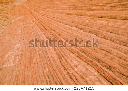 strata lines from mountains in zion national park utah - stock photo