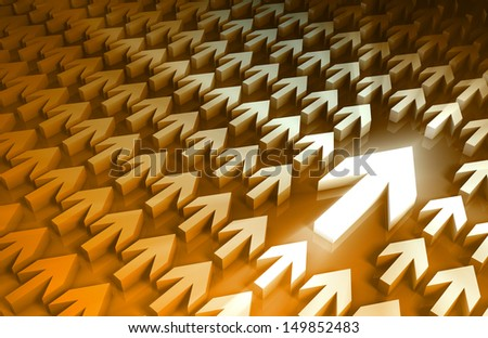 Strategic Management and Important Steps as Art - stock photo