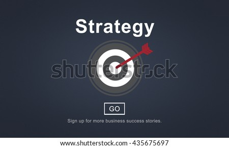 Strategy Analysis Mission Goals Strategic Concept - stock photo