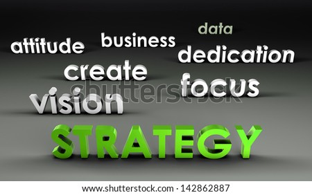 Strategy at the Forefront in 3d Presentation - stock photo