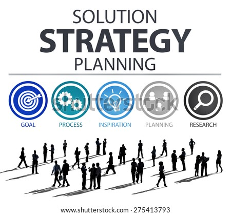 Strategy Business Goals Solution Success Concept - stock photo