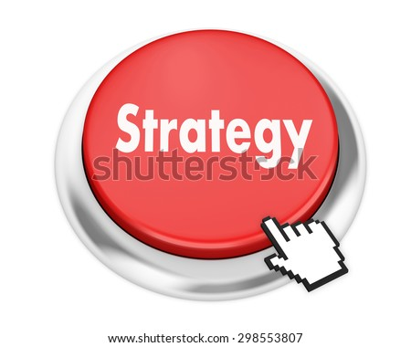 Strategy button on isolate white background - stock photo