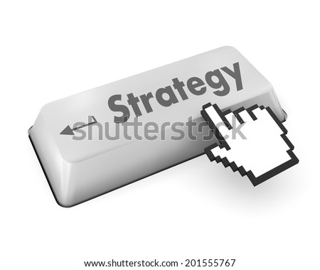 Strategy Concept. Button on Modern Computer Keyboard with Word Strategy on It. - stock photo