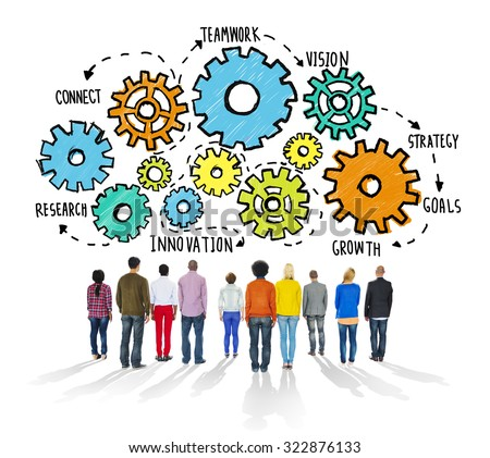 Strategy Cooperation Teamwork Connect Innovation Concept - stock photo