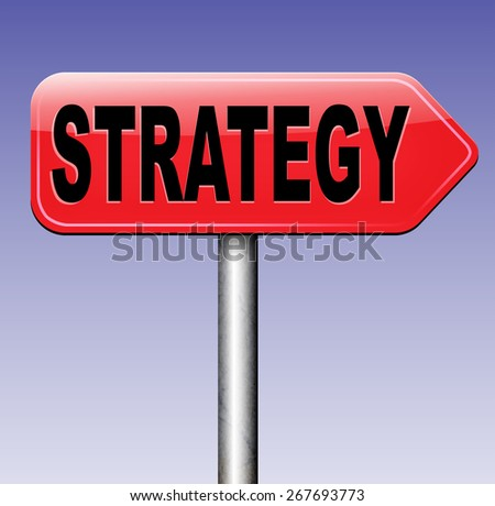 strategy for business plan and marketing analysis and vision  - stock photo