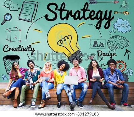 Strategy Ideas Mission Creativity Design Vision Concept - stock photo