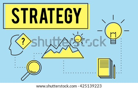 Strategy Innovation Solution Objective Idea Concept - stock photo