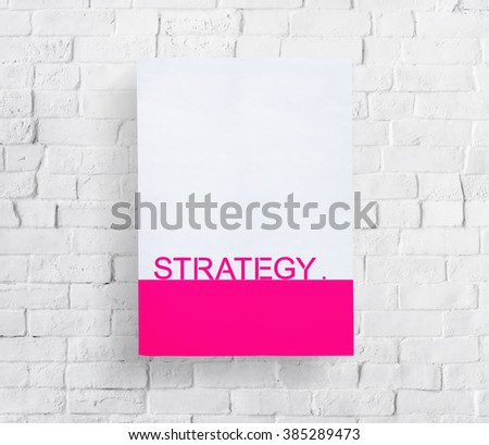 Strategy Mission Project Analysis Objective Concept - stock photo