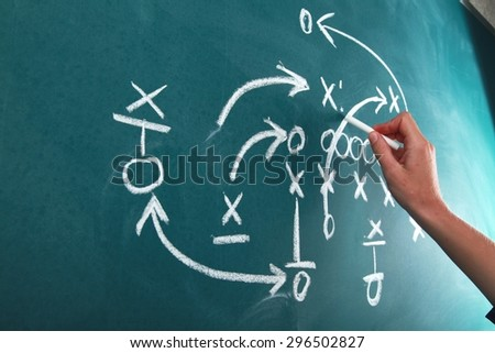 Strategy, Planning, Soccer. - stock photo