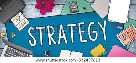 Strategy Planning Solution Vision Tactics Concept - stock photo