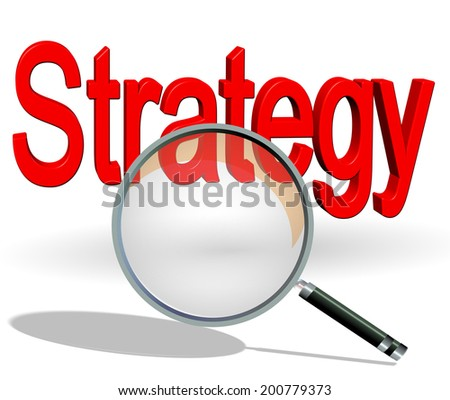 strategy search  - stock photo