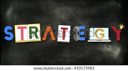 Strategy Tactics Process Development Operations Concept - stock photo