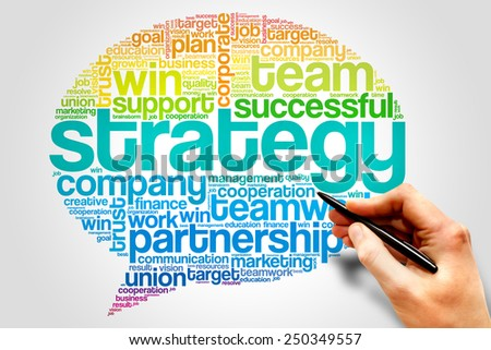 Strategy Think Bubble word cloud, business concept - stock photo