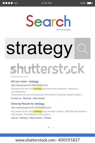 Strategy Vision Planning Process Tactic Concept - stock photo