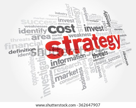 STRATEGY word cloud, education concept - stock photo