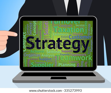Strategy Word Representing Strategies Plans And Plan - stock photo