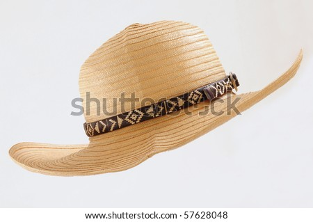 Straw hat. - stock photo