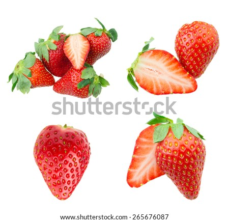 Strawberries collection - stock photo