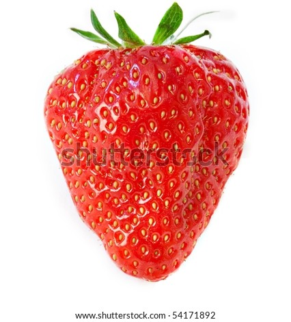 Strawberriy isolated on white background - stock photo