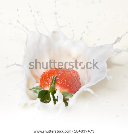 Strawberry and Cream  - stock photo