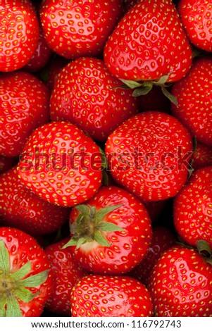 strawberry background - fruit background - stock photo