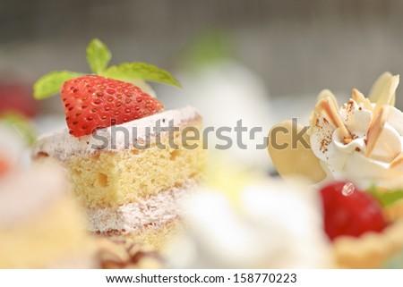 Strawberry Cakes - stock photo