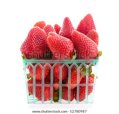 Strawberry in a basket - stock photo