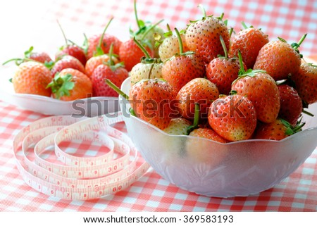 Strawberry in a cup - stock photo