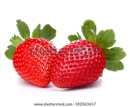 Strawberry isolated on white background cutout - stock photo