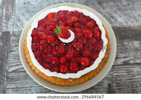 Strawberry Pie - stock photo