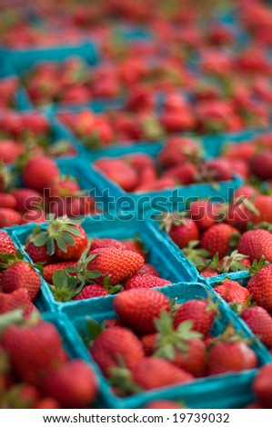 Strawberry's at farmers market - stock photo